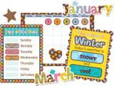 "Checkout the ""Dots On Chocolate Calendar Bulletin Board Set, 69 Pieces"" product"