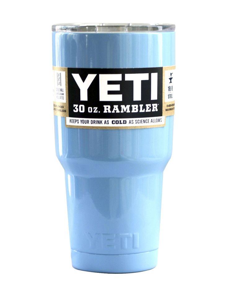 Carolina Blue Yeti 30 oz Rambler Tumbler