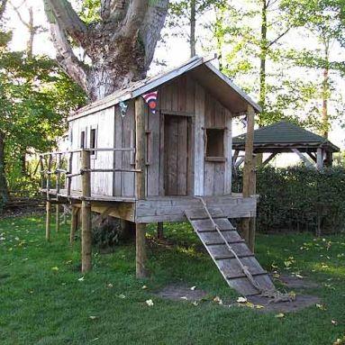 steigerhouten speelhuisjes: speelhuisje boomhut
