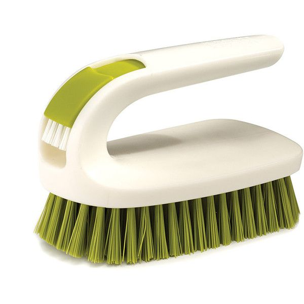 Joseph Joseph Twin Scrub 2-in-1 Scrubbing Brush Set - Green (£13) ❤ liked on Polyvore featuring home, home improvement and cleaning