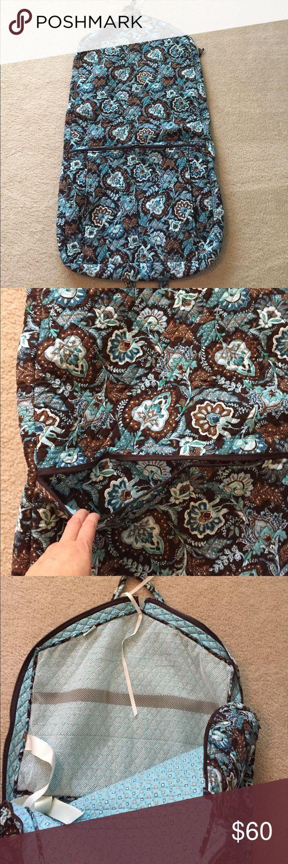 Like New Condition Java Blue Garment Bag Used very few times. Vera Bradley garment bag. Didn't find any flaws! Vera Bradley Bags