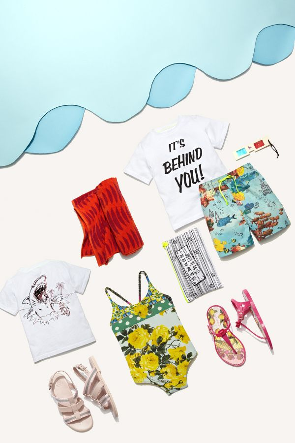 Beachy Keen: Shop summer styles for kids from Stella McCartney Kids, Dolce & Gabbana and more.