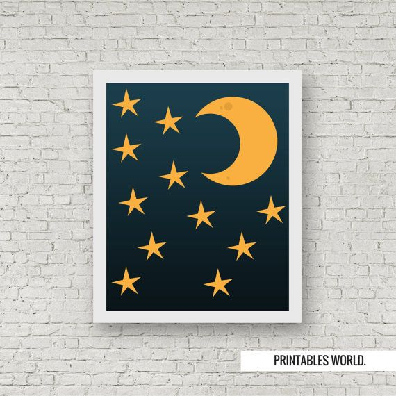 Moonlight Printable Poster Instant Download by PrintablesWorld