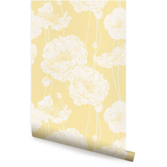 Mullen 24 W Peony Peel And Stick Wallpaper Panel Peony Wallpaper Peel And Stick Wallpaper Fabric Wallpaper