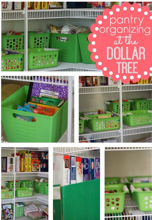 Pantry Organizing {At The Dollar Tree} - amazing what just a few dollars and some work can do to get some organizing done.