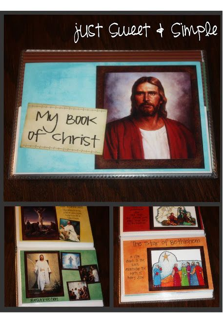 just Sweet and Simple: Printable Children's Book of Christ