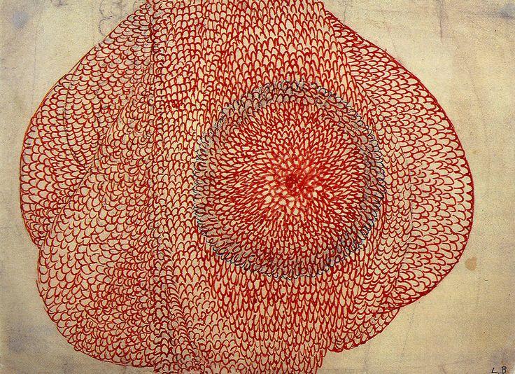 Eccentric Growth - Louise Bourgeois - 1963/67 (encre rouge sur papier)