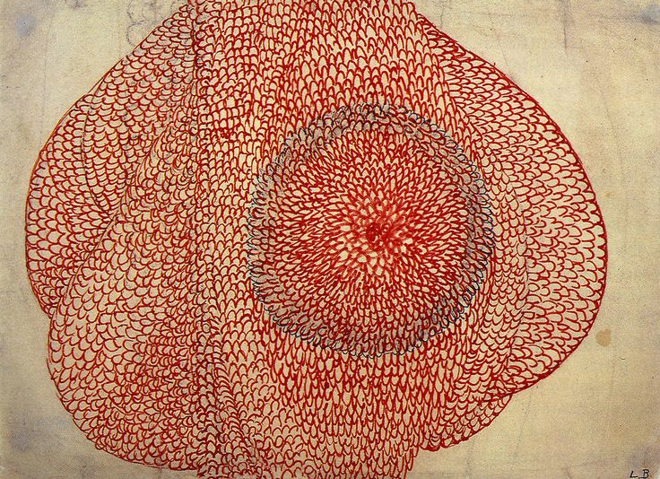 Eccentric Growth - Louise Bourgeois - 1963/67 (encre rouge sur papier)