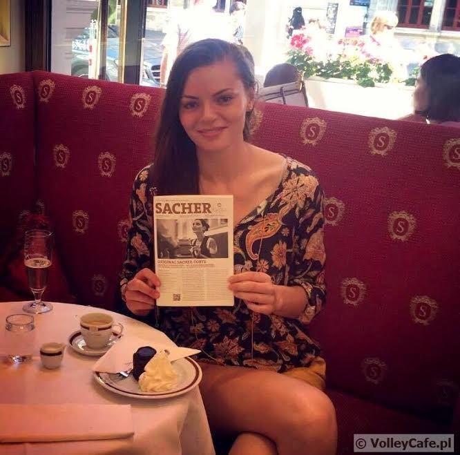 Maja #Tokarska, #coffee and #cake! #coffeetime #cafe #volleyball #interview