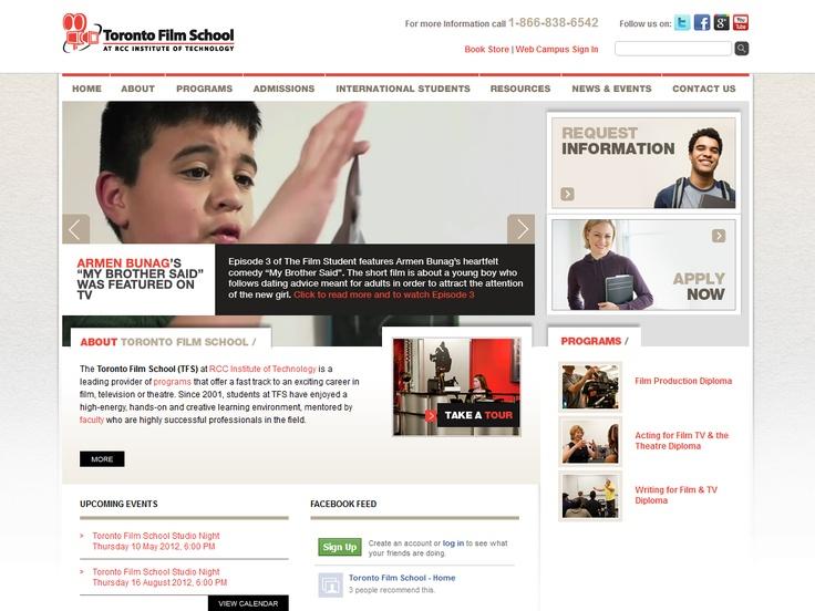 Top 10 Kentico Websites for April 2012 http://devnet.kentico.com/Blogs/Lenka-Navratilova/May-2012/Top-10-Kentico-Websites-for-April-2012.aspx Toronto Film School  Implemented by:  Elemental Inc.