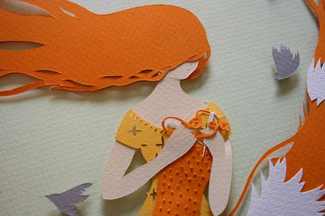 Detail of cut paper by Sarah Dennis