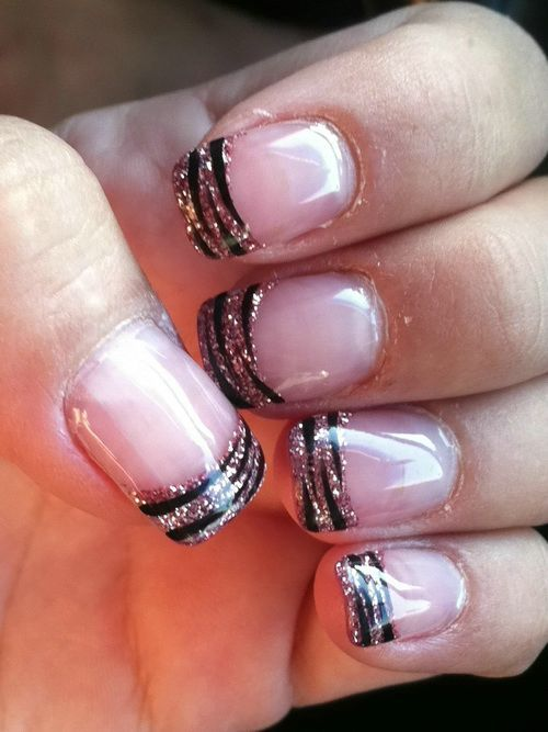 Zebra Print Nail Design For Short Nails
