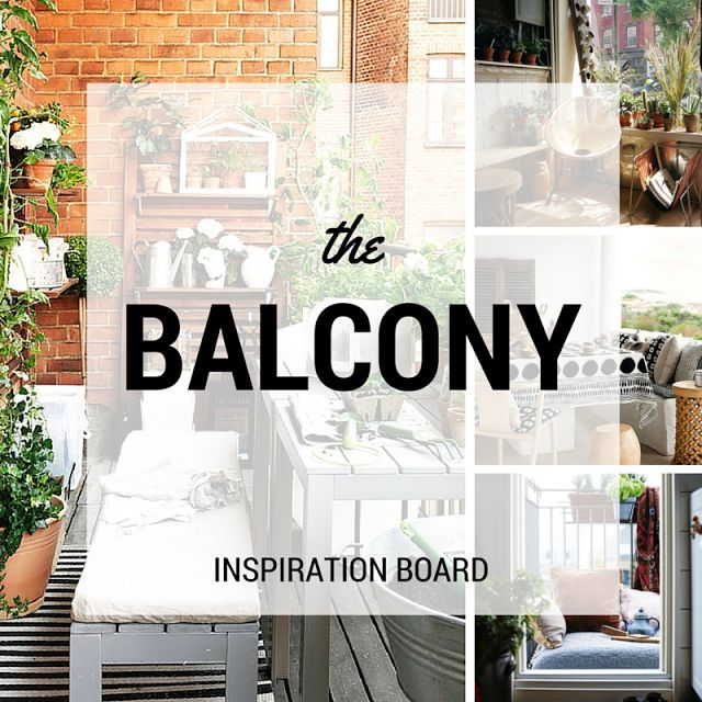 Balcony decoration ideas, small balconies, great balconies, cozy balconies • the Round Button blog