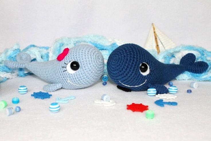 Free amigurumi pattern crochet whale