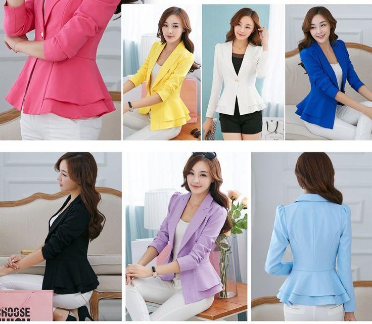 7 конфеты Color пиджак пиджак Laper с длинным рукавом оборками короткий пиджак кардиган Большой размер S-XXXL пиджак femininos C5404
