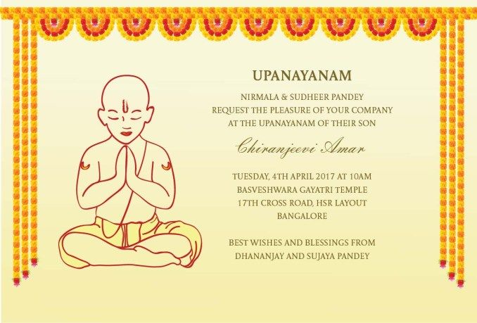 Image Result For Thread Ceremony Invitation In Hindi Invitations Ceremony Thread