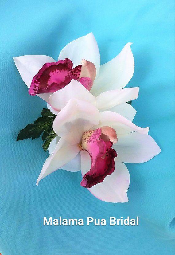 Tropical Hair Clip Bridal Head Piece Silk Orchid Hair Etsy Orchid Hair Accessories Flowers In Hair Orchid Hair Piece