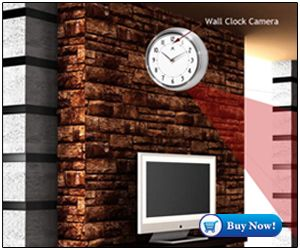 Get online Spy Wall Clock Camera 8 Hours Recording in Delhi India buy cheap price shop Wall Clock hidden video Camera, button camera in india, dealers.