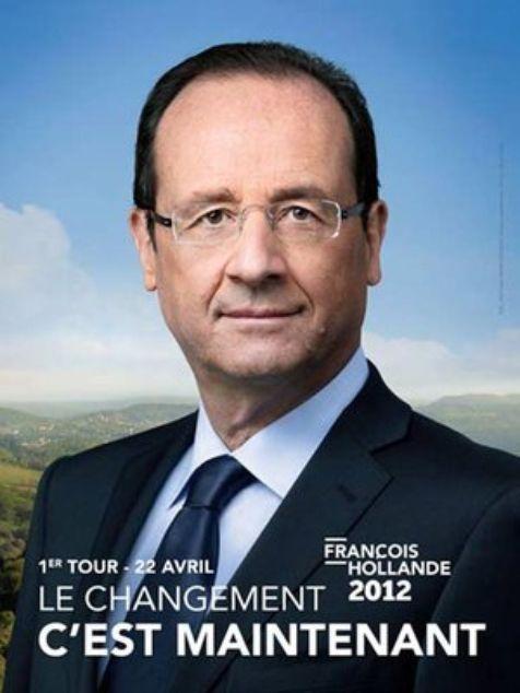 l'affiche d'Hollande  Mai 2012, la France élit son nouveau président. François Hollande (de gauche) succède a Nicolas Sarkozy ( de droite)......