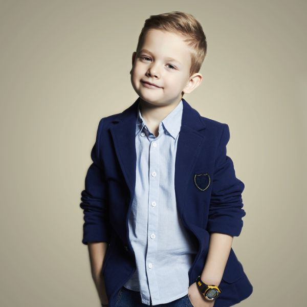 Blonde Suave Short Haircut for Boys