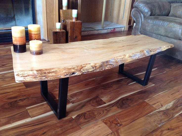 Custom Beautiful Live Edge Coffee Tables With Steel Legs Rustic Coffee Tables Natural Edge