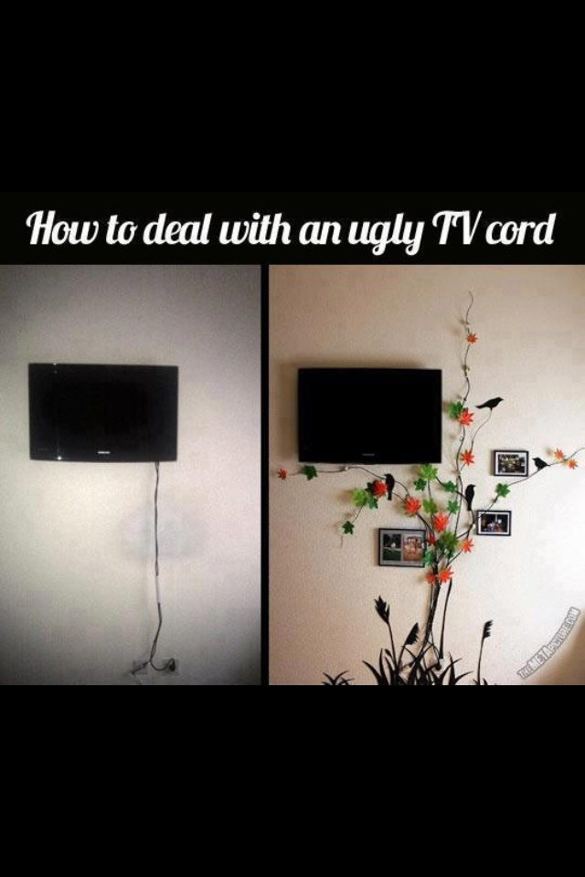Best 25 hide tv cords ideas on pinterest hiding tv for Ideas to cover tv wires