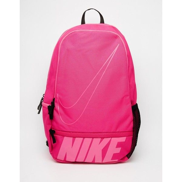 Nike Classic North Backpack in Pink ($32) ❤ liked on Polyvore featuring bags, backpacks, vividpinkpkscle, zipper bag, knapsack bags, day pack backpack, backpacks bags and zip bags
