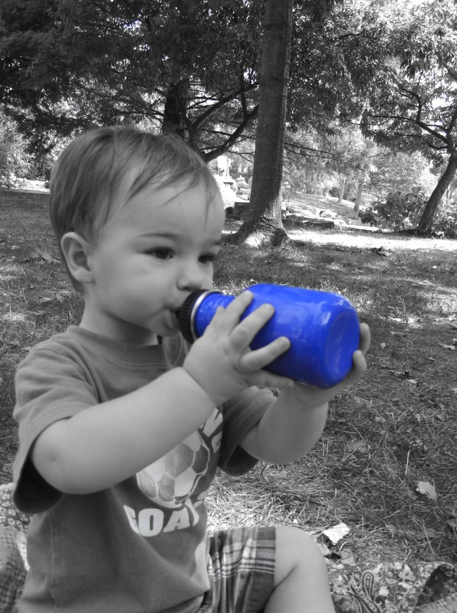 """Thanks for sharing this Jessica! """"My Little LOVES his Klean Kanteen b/c he feels so big :) Just like dad's :)"""" (via Facebook)"""
