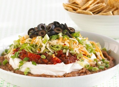Ultimate 7-Layer Dip that everyone will love for game day.: Party Dips, Yummy Food, Dips Recipe, Ultimate 7 Layered, Appetizers, 7Layer Dips, Artichokes Dips, Dip Recipes, 7 Layered Dips