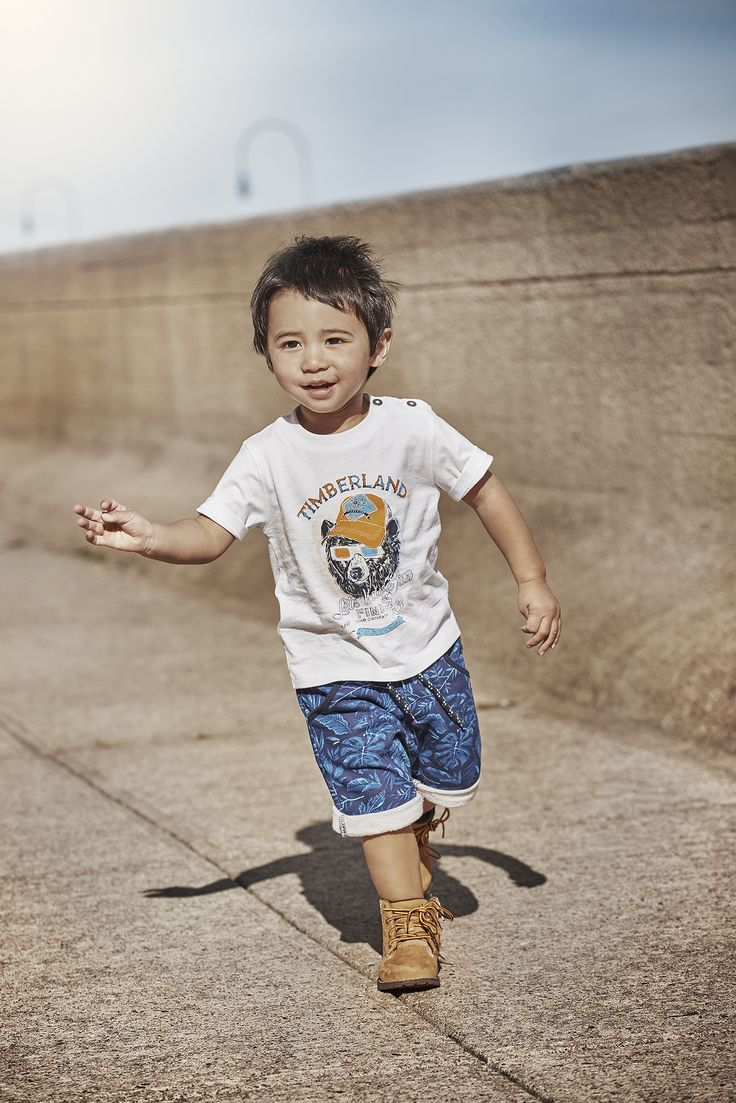 Timberland Spring/Summer 17 Collection  Available on Smallable : http://en.smallable.com/timberland  Boys. Girls. Toddlers. Childrenswear. Fashion. Summer. Outfits. Clothes. Smallable