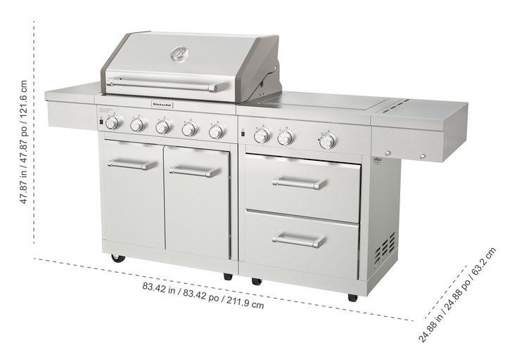Kitchenaid stainless steel 8burner grill kitchen aid