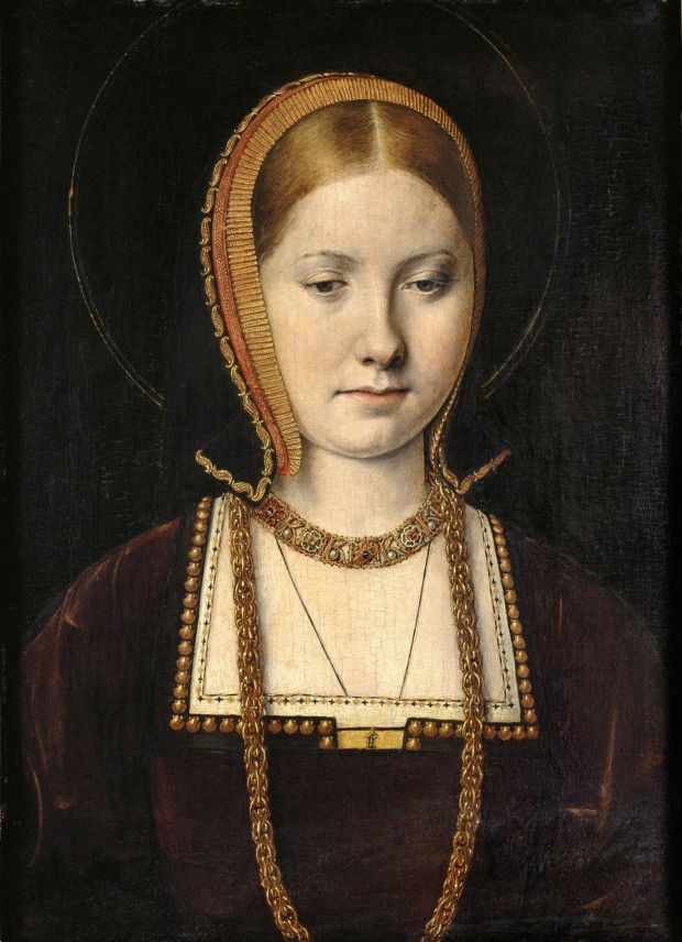 Portrait of a princess, possibly Catherine of Aragon, circa 1502, by Michael Sittow. Kunsthistorisches Museum, Vienna. wives henry VIII