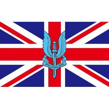 British SAS (Special Air Services Union Jack Flag Who Dares Wins