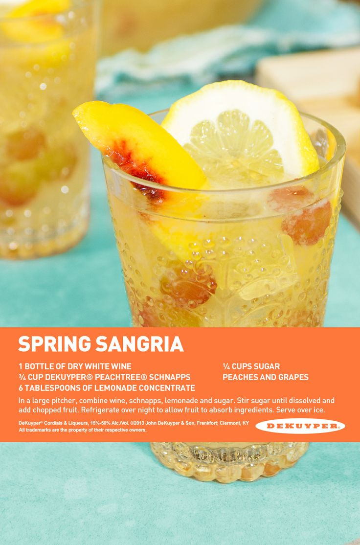 Spring Sangria, the perfect cocktail for the season! # ...