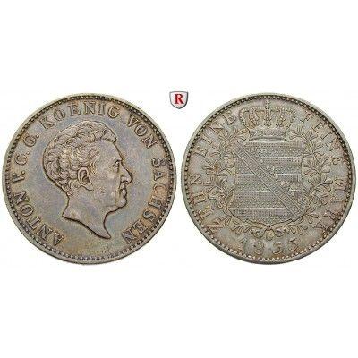 Sachsen, Königreich Sachsen, Anton, Konventionstaler 1833, f.vz: Anton 1827-1836. Konventionstaler 1833 G. AKS 66; fast vorzüglich… #coins