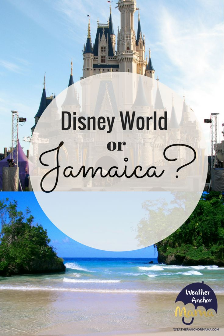 Recently my hubby mentioned taking the kids to Jamaica, which now leaves us trying to figure out whether to go to Disney or Jamaica.