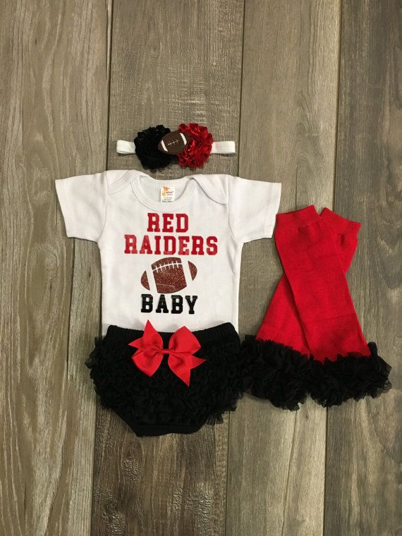 Texas tech baby outfit  Texas tech baby girl   by Mylittlerascal