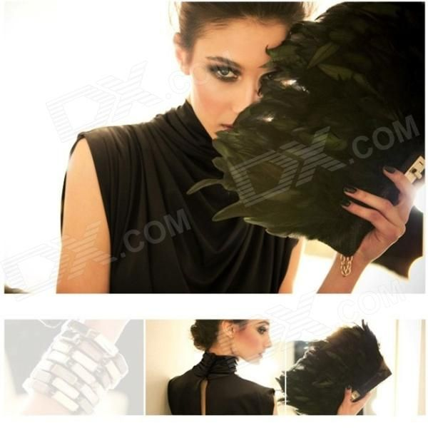 Fashionable Drape Collar Silk Cotton Evening Dress - Black