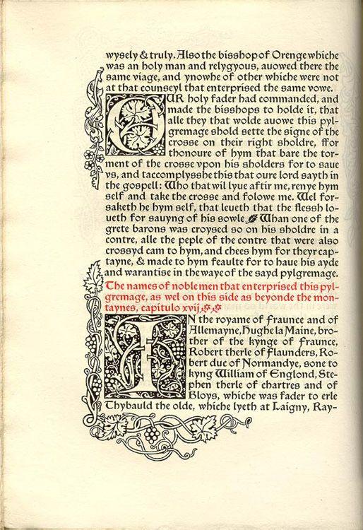 William Morris - Kelmscott Press: Q435 Quartos, Morris Book, Bookish Things, Embellishments Letters, Artists Inspiration, Book Pages, Crafts Graphicdesign, 1910 Art, Editorial Design