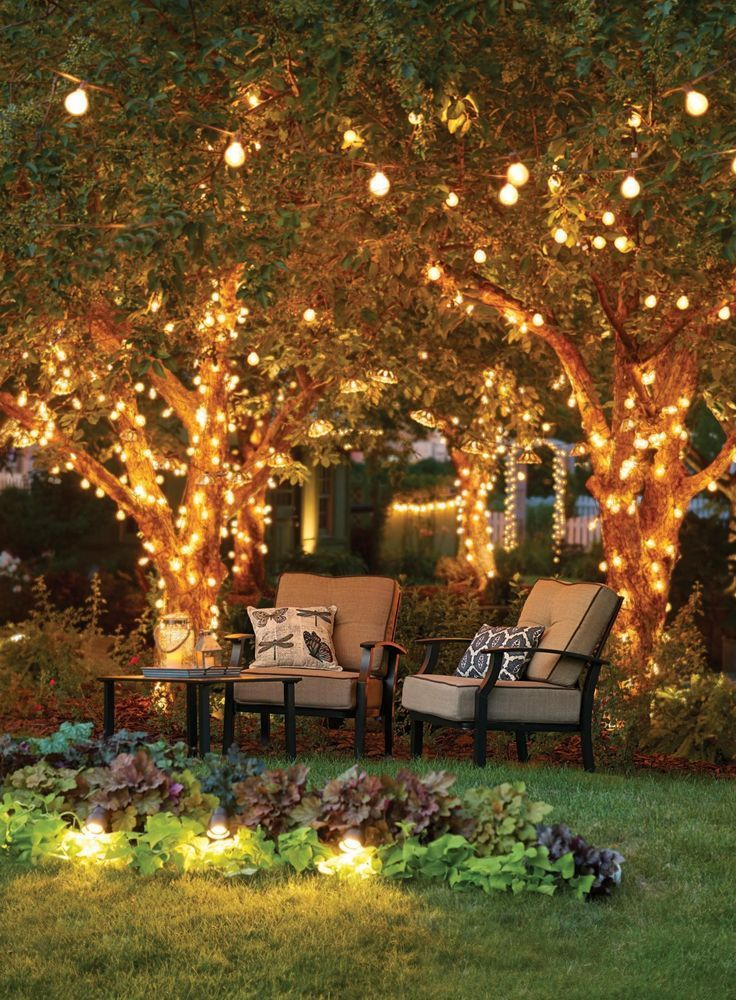 Fresh Up Your Outdoor With Our Lighting Tips Check Here Some Ideas Www Lightingstores Eu Visit Our Outdoor Tree Lighting Backyard Lighting Backyard Decor
