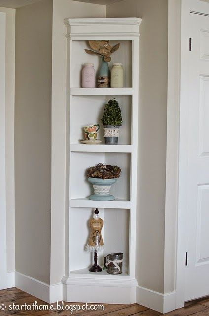 Start at Home: Built In Shelf {the easy way} & tutorial