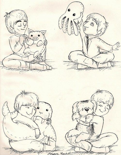Piggies, Octopus's Garden, I'm the walrus, Martha, Beatles ♥ This is the most amazing thing I have ever seen in my life