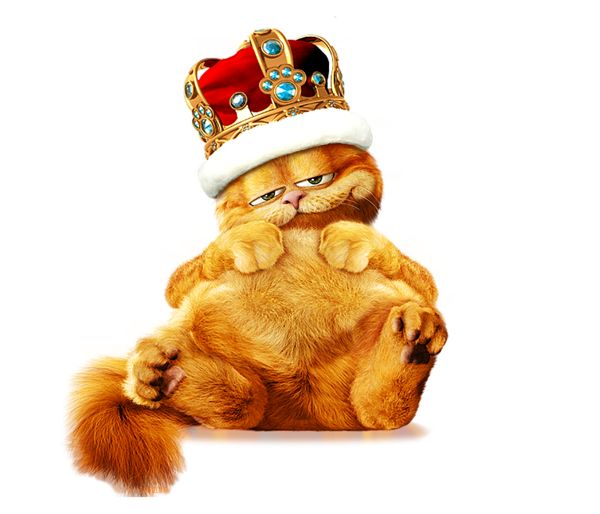 Garfield King PNG Free Clipart