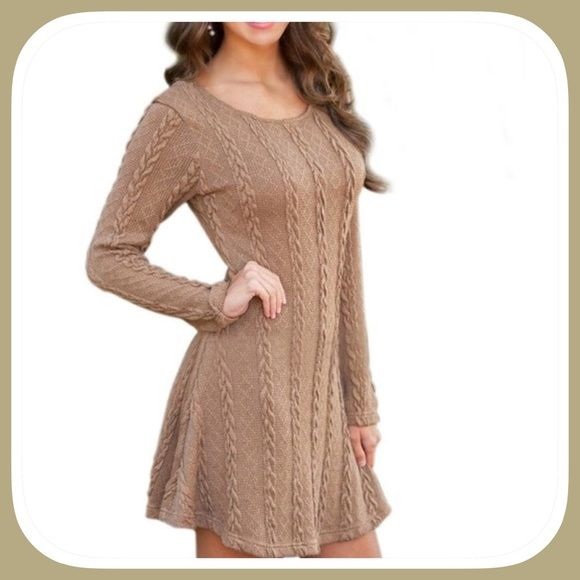 COMING SOON! Woman's Crewneck Sweater Dress Be a fashion queen in this very unique style dress! Oh so sexy and elegant! Bust 34-36 Boutque Dresses Mini
