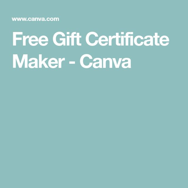 free gift certificate generator