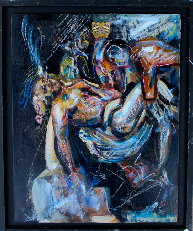 Psychedelic JesusBuy paintings atwww.bluethumb.com.au/alexcarletti