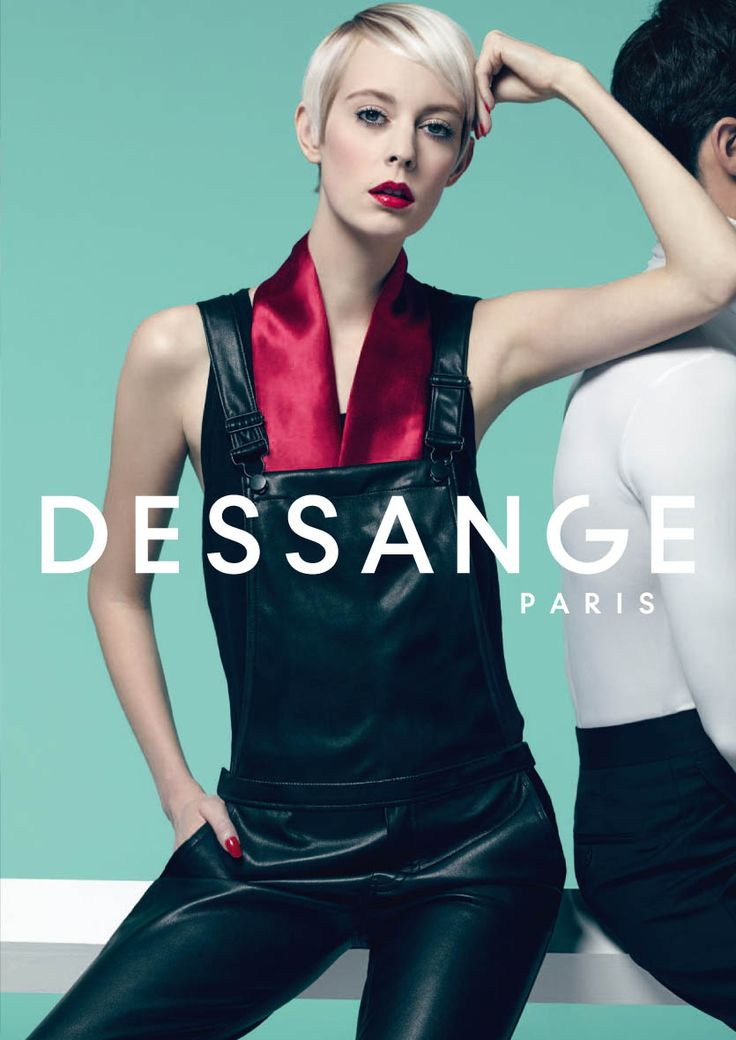 "Sweet tomboy: A captivating version of Twiggy's famous style. Perfectly crafted, this structured ""masculinefeminine"" cut opts for shorter sides to accentuate the depth of the balayage. This smoothed cut is enhanced with Blond Distinction, subtly shaded on the sides to accentuate its contour. (Photo Nicolas Valois) #dessange #springsummer2015"
