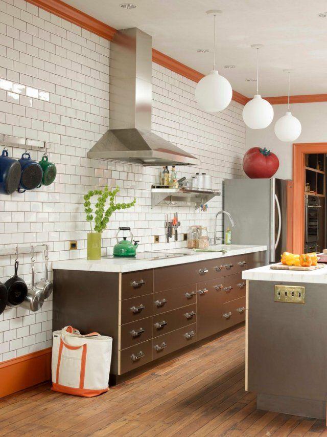 Merveilleux Revêtement Mural Cuisine Idée Originale Carrealage Rectangulaire