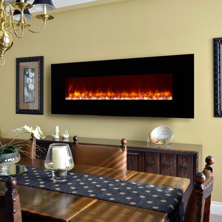 dynasty electric fireplace led wall mount 70 in ef70p - Modern Electric Fireplace