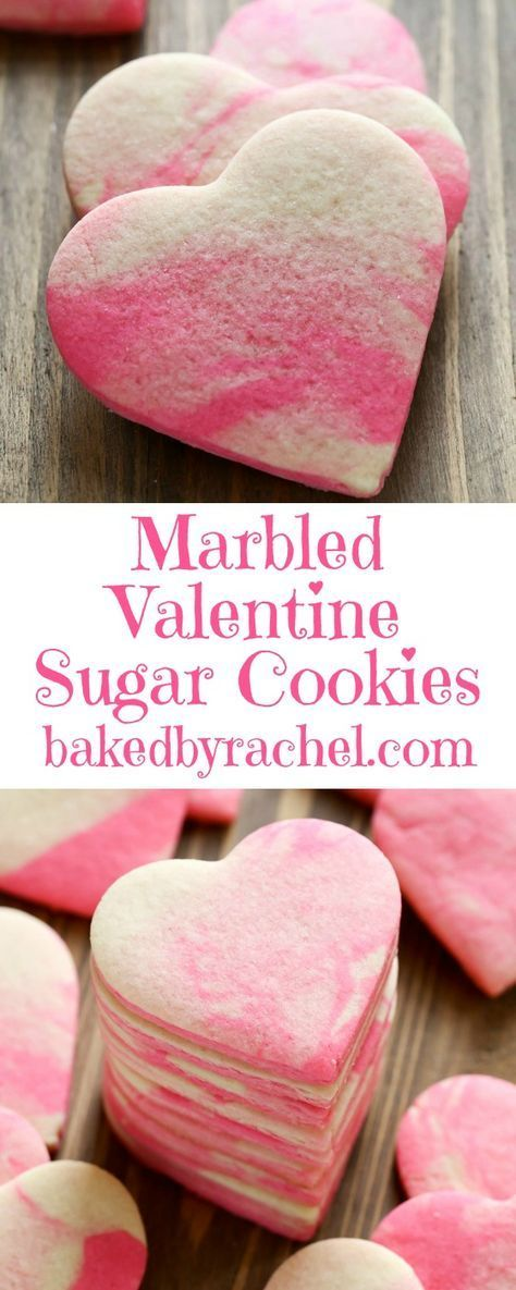 Marbled Valentine sugar cookie recipe from /bakedbyrachel/